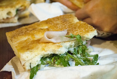 Il Cencio Unto, Florence, Italy (Tiphaine Rolland) Tags: italy cheese bread florence salad pain nikon ham sandwich firenze 1855mm 1855 focaccia salade fromage italie jambon 2016 d3000 nikond3000 ilcenciounto