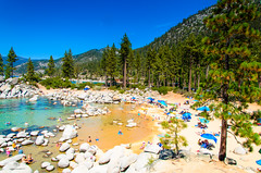 Sand Harbor - Nevada (scaturchio) Tags: blue trees sky mountain lake beach harbor sand harbour nevada tahoe laketahoe august nv 2015 sandharbor