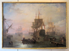 80   HMS Victory anchored off the Isle of Wight  NMRN  Portsmouth (Mark & Naomi Iliff) Tags: painting sailing ship victory isleofwight portsmouth warship carmichael hms dockyard portsmouthhistoricdockyard 1758 shipoftheline firstrate 3decker nationalmuseumoftheroyalnavy nmrn