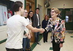 IMG_1861  Premier Kathleen Wynne engaged in a discussion with students from Danforth Collegiate and Technical Institute on financial assistance for post secondary education. (Ontario Liberal Caucus) Tags: school toronto college students education university highschool tuition potts coteau osap