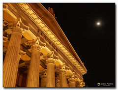 20080318_1933 (gabrielpsarras) Tags: moon building monument architecture night outdoors downtown athens greece historical column zappeion