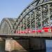 Der Verkehr auf der Hohenzollernbrücke