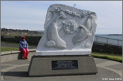 """Millennium Peace"" sculpted Marble (wjis21) Tags: ocean park sculpture seaside walk marble clover victoriabc assyria assyrian cloverpoint"
