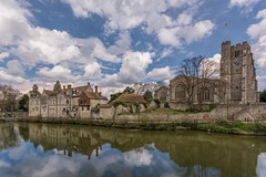 Along the River Medway (James Waghorn) Tags: bridge england tree bird heritage church water clouds reflections river kent spring nikon path medieval historic allsaints maidstone rivermedway archbishopspalace cs6 lr6 sigma1020f456 d7100 topazclarity
