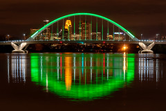 Lowry Ave Bridge - St. Patrick's Day (mtuswan) Tags: bridge river minneapolis mississippiriver lowry lowryave lowryavebridge