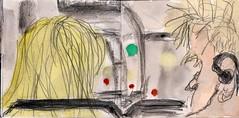 im Bus war sie ihm aufgefallen. Er hatte elektronische Musik gehrt und sie wrde seinem Groove nicht widerstehen (raumoberbayern) Tags: summer bus pencil subway munich mnchen sketch drawing sommer tram sketchbook heat ubahn draw bleistift robbbilder skizzenbuch zeichung