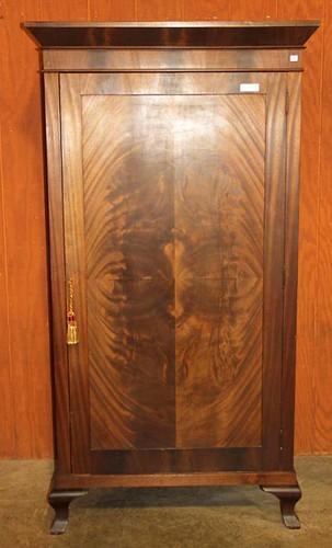Antique Flame Grain Single Door Wardrobe ($770.00)