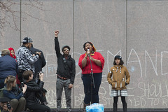 Singer at a protest demanding police be prosecuted for the death of Jamar Clark (Fibonacci Blue) Tags: minnesota photo justice rally protest picture minneapolis police demonstration event mpls photograph activism mn activist jamar prosecute fibonacciblue justice4jamar