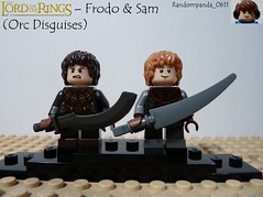 Frodo & Sam (Orc Disguises) (RandomPanda_0611) Tags: film movie lego fig films character lord lotr rings figure movies characters minifig minifigs figures frodo figs baggins minifigure minifigures