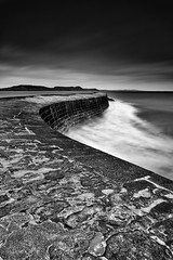 On The Edge (David Ball Landscape Photography) Tags: uk longexposure greatbritain travel sea sky blackandwhite storm nature water monochrome clouds canon landscape outdoors photography mono coast blackwhite moody cloudy coastal dorset tones lymeregis thecobb 2016 10stops leefilters cloudsstormssunsetssunrises davidballlandscapephotography