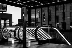 Potsdamer Platz Rolltreppe (xelleron) Tags: man berlin germany deutschland graffiti lafayette platz side hauptstadt potsdamer sigma east charlie galleries segway alexander impressionen tor brandenburger bundestag friedrichshain berliner mauer molecule kanzleramt checkpoint oberbaumbrcke gallerie 1835mm spreeufer nikond7100