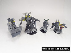 Mad Max Ork Bosses (whitemetalgames.com) Tags: road white max film metal painting movie miniatures nc painted north models mini games raleigh carolina service characters mad bosses commission fury minis orks wmg warboss obliterator cybork warbosses