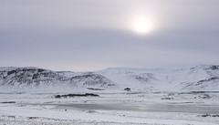 There has to be an invisible sun (lunaryuna) Tags: winter panorama lake snow ice season landscape iceland memories lunaryuna wintersky winterlight ominousskies hiddensun loveminuszero mlountains seasonalwonders