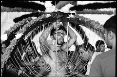 Panguni Celebration - Singapore (waex99) Tags: 2016 epson kodak leica m6 march celebration hindu pangunimsingapore ritual rubby trix v500 yishun indian relgion faith foix rituel pain souffrance panguni singapore singapour film analog argentique rangefinder wportrait