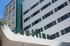 Mid-Century Nautilus Hotel Miami Beach (Phillip Pessar) Tags: building beach architecture hotel miami south nautilus sobe midcentury