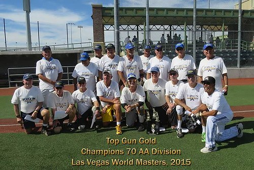 Top Gun Gold 70-75 AA World Masters Champions-2015