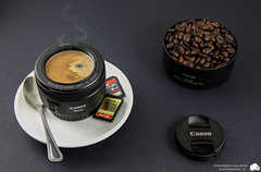 50mm di Caff! (Franc91) Tags: life abstract coffee photoshop canon studio lens eos 50mm is still shot creative sd cap fantasy l hood usm stm f18 50 caff f4 tazza 6d cucchiaino 2470