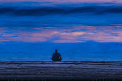 The Ocean of Truth (Michael Holden) Tags: ocean california longexposure abstract beach us losangeles waves unitedstates pacificocean meditation bluehour solitary existential sirisaacnewton theoceanoftruth