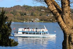 Passing by (rreyn92) Tags: blue sky lake reflection tourism water weather ferry landscape boat day skies tour crossing place near district lakedistrict relaxing calming sunny scene tourist environment passing windermere sawrey