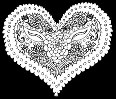 Heart Vector (megforce1) Tags: flowers flower floral vintage hearts heart adult mandala valentine page coloring valentines