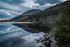 Mountain Reflections (jasonmgabriel) Tags: trees mountain lake reflection water clouds landscape scotland scenery loch lochy
