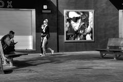 Inadvertida (Nicols Rosell) Tags: barcelona street city urban espaa blancoynegro person calle spain nikon europa europe ciudad catalonia personas barceloneta urbana catalunya d7100 blackwhrite nikond7100
