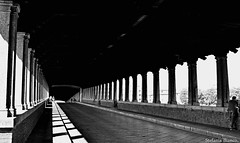 Pavia. (Stefania Bianco) Tags: city travel bridge summer italy sun holiday travelling sunshine dark fun lights amazing cool italian nikon flickr italia like pic ponte luci viaggi paesaggi vacanze pavia