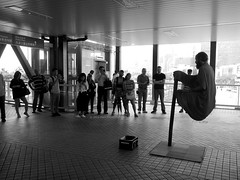 Levitation (Mark Obusan) Tags: hk hongkong magic crowd levitation illusion suspended hindu swami hover onlookers seer levitate