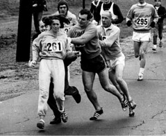 In Boston marathon organizer Jock Semple chased after Kathrine Switzer after he realized a woman was running. Other runners stopped him and she finished the race, 1967. [990 X 811] #HistoryPorn #history #retro http://ift.tt/1rBJg4s (Histolines) Tags: she woman history jock boston race him was other marathon running x retro organizer 1967 finished timeline runners after he 811 kathrine stopped 990 in switzer realized semple vinatage chased historyporn histolines httpifttt1rbjg4s