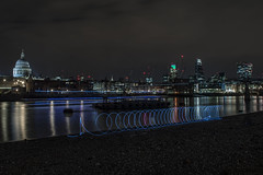 City LE 6 (FurtiveOutsider) Tags: city uk england london eye wool wheel st thames night river landscape photography wire nikon long exposure cathedral steel capital landmarks pauls bbc whee instagram instameet london4all ldn4all