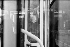::city life:: (deboralph) Tags: old city windows blackandwhite art photography sofia mirrors oldman grandpa bulgaria zenit publictransport