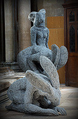 Lady Hares (SteveJM2009) Tags: uk sculpture woman art wire hare group april salisbury wiltshire salisburycathedral stevemaskell hares 2016 sophieryder wilts ladyhare ladyhares