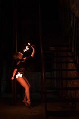 Fire in the Dark (alhsnaps) Tags: urban colour 35mm pose dark fire photography photo dance sticks model nikon play sigma dancer blonde pro acrobat acro