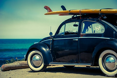 Back to square one (.KiLTRo.) Tags: california sea beach car wheel surf unitedstates beetle longboard sanclemente sanonofre wolkswagen kiltro
