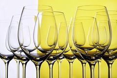 yellow (*Chris van Dolleweerd*) Tags: reflection glass yellow studio 50mm wine wineglass geel liquid wineglasses wijn wijnglas strobist chrisvandolleweerd