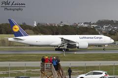 Lufthansa Cargo - D-ALFC - 'Ni Hao, China' - 2016.04.30 - ENZV/SVG (Pl Leiren) Tags: norway plane airplane stavanger airport aircraft aviation cargo planes boeing runway lufthansa svg sola rw freighter flyplass planespotting 2016 b777 lufthansacargo enzv dalfc b777f april2016 777fbt nihaochina