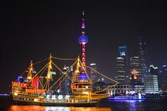(Yohsuke_NIKON_Japan) Tags: china skyline night river nikon asia ship waterfront shanghai nightshot   pudong bund highiso orientalpearltower  2016 swfc  2485mm shanghaitower d7100