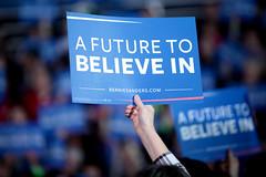 Bernie Sanders sign (Gage Skidmore) Tags: paul vermont senator president rally center iowa des learning bernie campaign moines knapp sanders caucus 2016