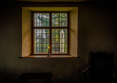 Candle in the Window (Daveyal_photostream) Tags: windows texture dusty window wall architecture bench chair nikon candle view antique indoor photomerge windowsill windowpane hdr lightroom d600 photoshopp nikor mycamerabag mygearandme meandmygear lightroomphotomerge