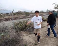 039 The Runners Carry Onward (saschmitz_earthlink_net) Tags: california trail orienteering runner irwindale 2016 losangelescounty santafedam laoc santafedamrecreationarea losangelesorienteeringclub joevliestra