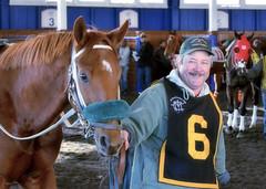 2015-12-19 (22) r6 trainer Patrick Magill with #6 Redheaded Stranger (JLeeFleenor) Tags: photos photography md marylandracing laurelpark marylandhorseracing horses thoroughbreds equine equestrian cheval cavalo cavallo cavall caballo pferd paard perd hevonen hest hestur cal kon konj beygir capall ceffyl cuddy yarraman faras alogo soos kuda uma pfeerd koin حصان кон 马 häst άλογο סוס घोड़ा 馬 koń лошадь chestnut pat trainers equinedentaltechnician patrickjmagill maryland