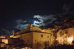 17.42, Abruzzo (Ti.mo) Tags: italy moon town december village it selected 55mm f18 abruzzo hilltown 2015 bugnara iso8000 1ev  secatf18 fe55mmf18za corsovittorioemanuele116