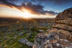 Leeden_Tor_Logo (Sascha Selli) Tags: uk sunset england nature moss rocks britain outdoor stones devon rough tor dartmoor harsh leeden