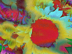 Fauvist Bouquet (virtually_supine popping in and out) Tags: photomanipulation creative textures expressionist layers bouquetofflowers blending digitalartwork fauvism photoshopelements9 wildvividcolour tmichallengeinthestyleoffauvism
