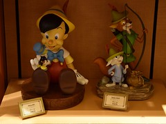 Disneyland Visit - 2016-02-07 - Downtown Disney - World of Disney - Collectibles Dept. - Pinocchio and Robin Hood Figures (drj1828) Tags: us disneyland visit downtowndisney 2016