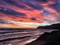 That's what I'm doing here! (Simon Parks) Tags: sunset spain waves murcia iphone daysend calblanque
