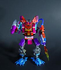 Angry kitty mech (DeadCajun71) Tags: pink girl cat movie robot lego flamethrower missiles mech legomovie unikitty