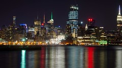 Colorful City (Lojones13) Tags: newyork skyline night cool cityscape hudsonriver