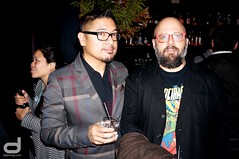 CAAMFest 2016 Launch Party at Mercer | Film Director, Screenwriter, Actor and Musician H.P. Mendoza and Mark Del Lima (diginmag) Tags: sanfrancisco party mercer launchparty caamfest2016