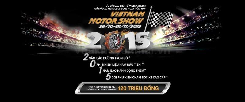 Ưu đãi lên đến 120 triệu đồng từ Vietnam Star Automobile tại Vietnam Motor Show 2015